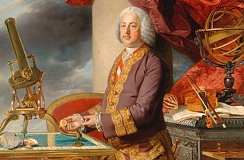 Johann Zoffany: Emperor Franz Stephan with his natural history collections, oil painting, 1776/77