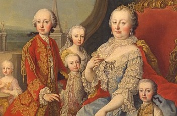 Martin van Meytens: Franz Stephan and Maria Theresa surrounded by their family, oil on canvas, c. 1754/55