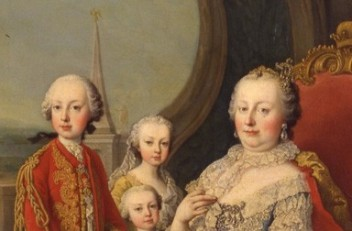 Martin van Meytens: Maria Theresa surrounded by her family, painting, c. 1754/55