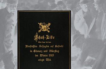 Schuß-Liste über das bei den allerhöchsten Hofjagden in Eisenerz und Mürzsteg im Winter 1913 erlegte Wild