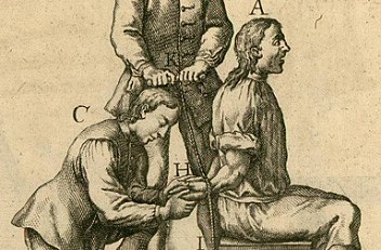 Torture by rope, illustration from the *Constitutio Criminalis Theresiana*