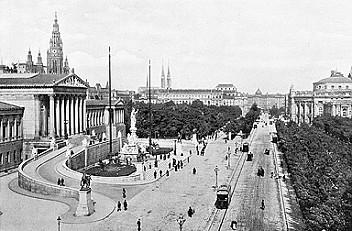 Wien, Franzensring, Fotografie, um 1908