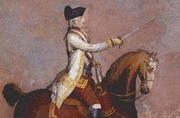 Wolfgang Köpp von Felsenthal: General Laudon on horseback, mid-18th century