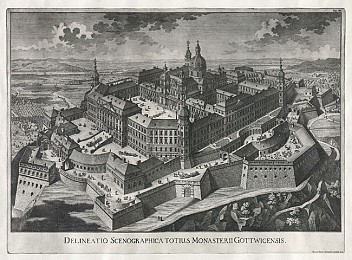Historic view of Göttweig Abbey