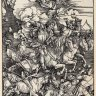 Albrecht Dürer: The Four Horsemen of the Apocalypse, woodblock print, 1497/98