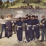 Édouard Manet: The execution of Emperor Maximilian of Mexico, oil on canvas, 1868/69