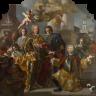 Francesco Solimena: Karl VI. erhält das Inventar der kaiserlichen Gemäldegalerie überreicht, 1728