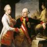 Pompeo Batoni: Joseph II. und sein Bruder Leopold, Großherzog der Toskana, in Rom, Ölgemälde, 1769