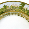 Vienna Porcelain Manufactory: Panorama plate with a view of the firework arena in the Prater, 1803-1807