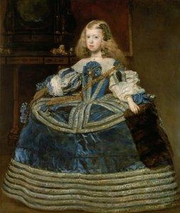 Diego Rodríguez de Silva y Velázquez: Infantin Margarita Teresa (1651–1673) in blauem Kleid, 1659